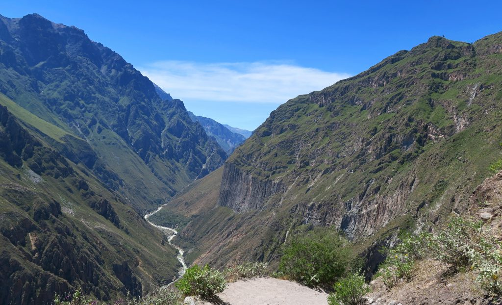 View of Stream Running Through The Colca Canyon