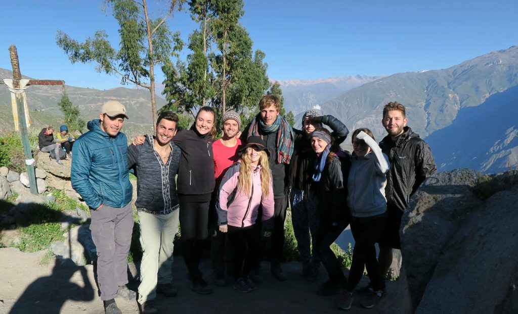 Group Reaching The Summit of The Colca Canyon