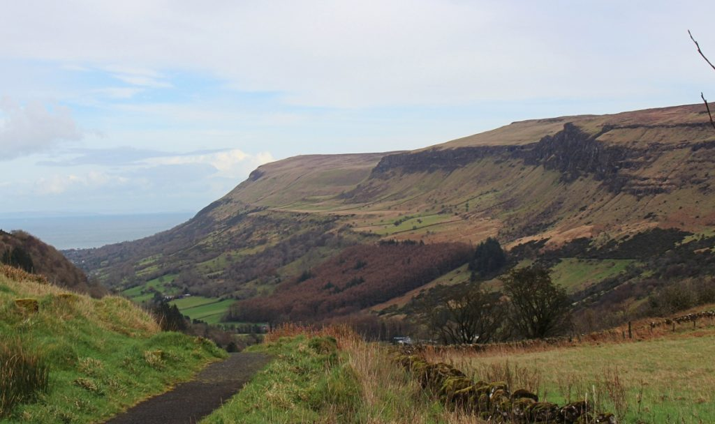 View from Glenariff Forest Car Park