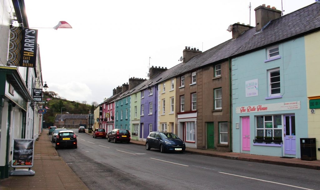 Purple and yellow houses in Cushendall