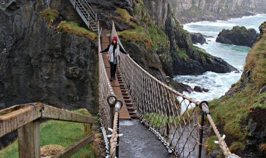 Girl Crossing Carrick-A-Rede Bridge
