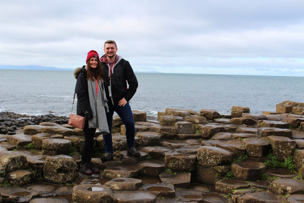 Couple at Giant's Causeway