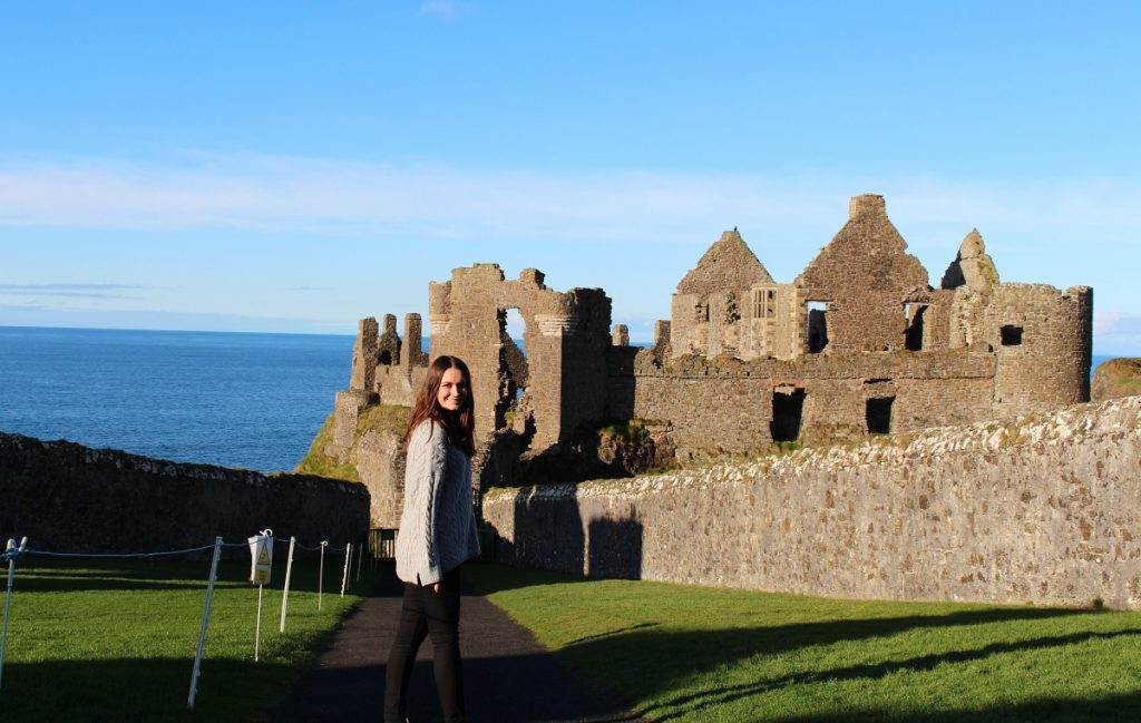 Girl at Dunluce Castle
