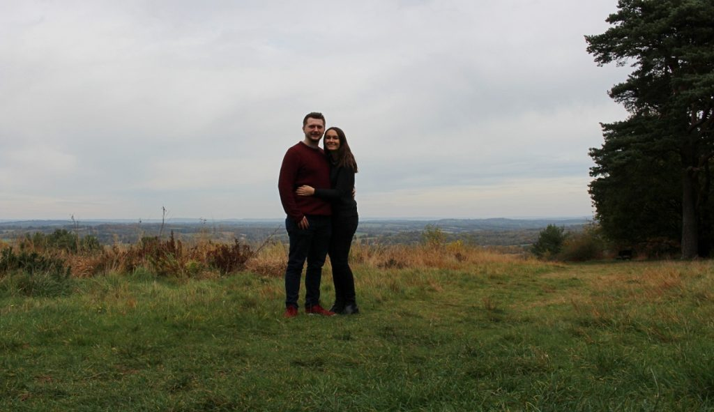 Couple in Ashdown Forest