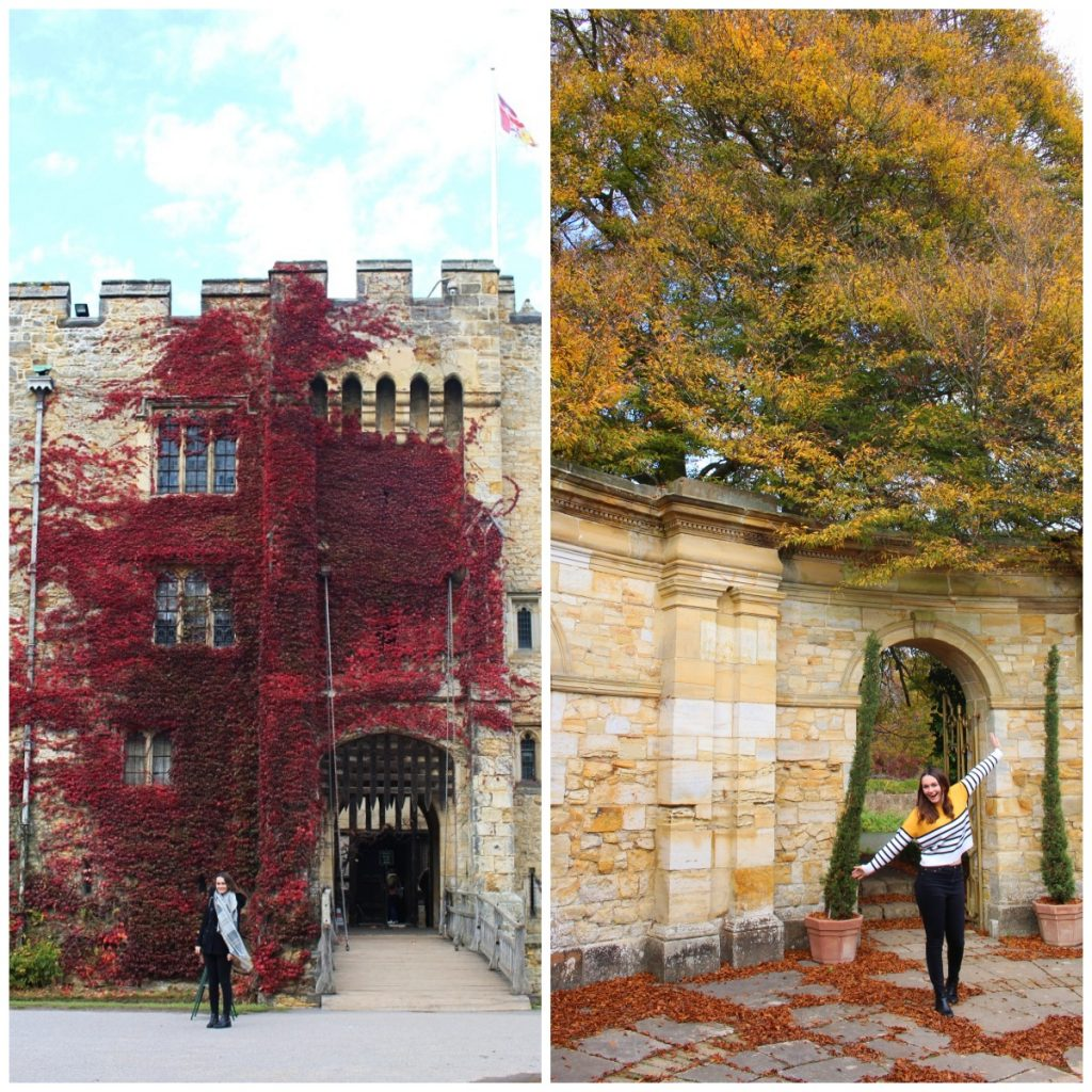 Girl in Autumn Colours at Hever Castle